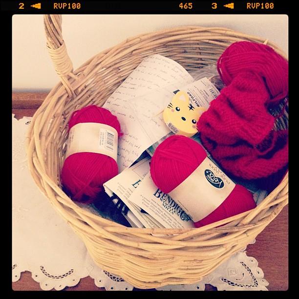 Knitting and napping