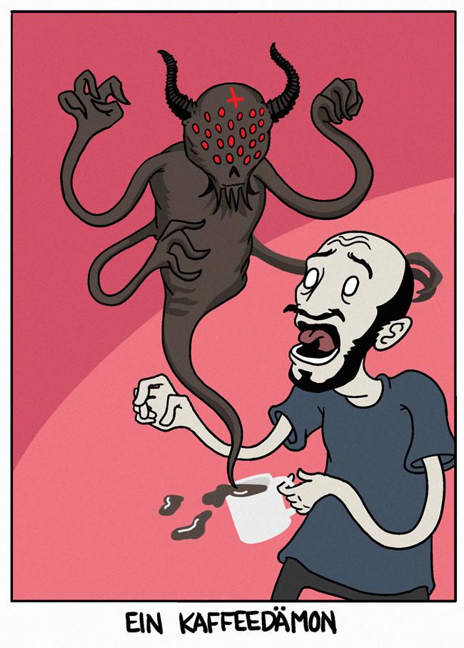 ein Kaffeedämon