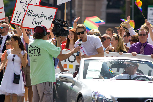 Mormons Building Bridges march in Salt Lake gay pride parade