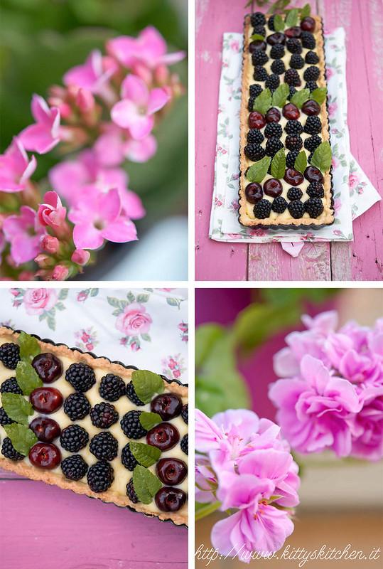 crostata e fiori
