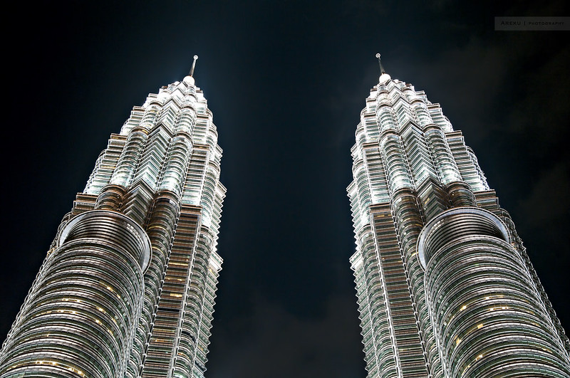 Petronas Towers by night #2