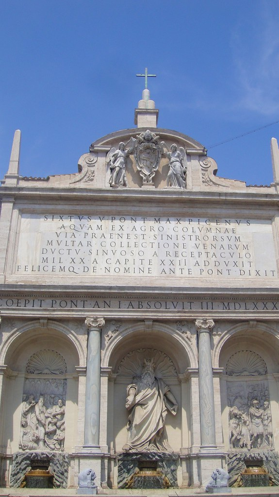 Fontana Dell Acqua Felice Fountain Of Moses 1588 Rom
