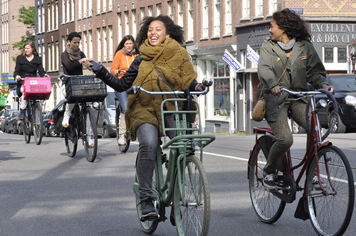 65c7187482 Good laugh. Amsterdam Cycle chic