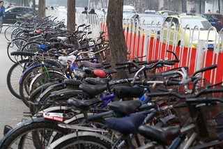 Bicycle Park on Wudaokou street
