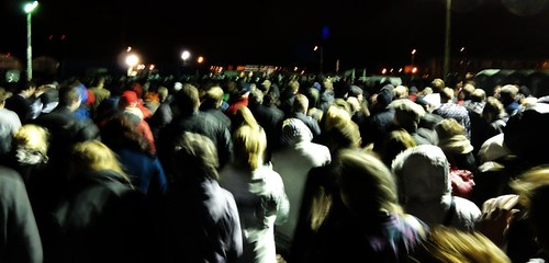Crowds Leaving