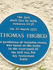 Photo of Thomas Wright blue plaque