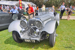 1937 Jaguar SS100 at Amelia Island 2012