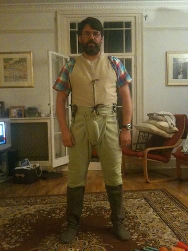 He is a lumberjack :)