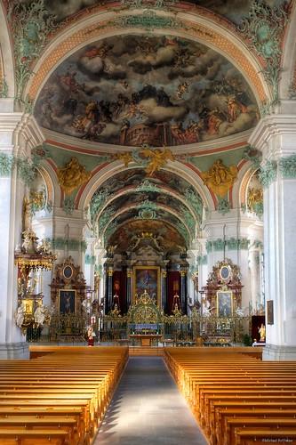 church abbey switzerland europe cathedral swiss unesco worldheritagesite nik baroque benedictine stgallen hdr a77 photomatix stfiden saintgallen flickr10 saintothmar saintfiden