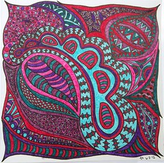 furniture(0.0), bed sheet(0.0), pillow(0.0), throw pillow(0.0), paisley(0.0), cushion(0.0), art(1.0), pattern(1.0), textile(1.0), magenta(1.0), purple(1.0), aqua(1.0), teal(1.0), design(1.0), circle(1.0),