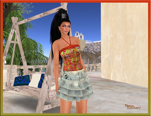 Paris-METRO-Couture-Mesh-Kobe-Halter+-Faded-Jean-Baby-Skirt by Dyana Serenity