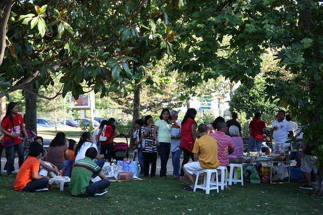 Familias filipinas a la fresca
