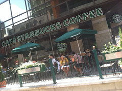 I would have thought Starbucks Coffee is a brand name and thus doesn't require translation.