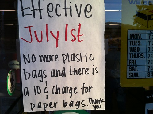 our town went plastic bag-free today