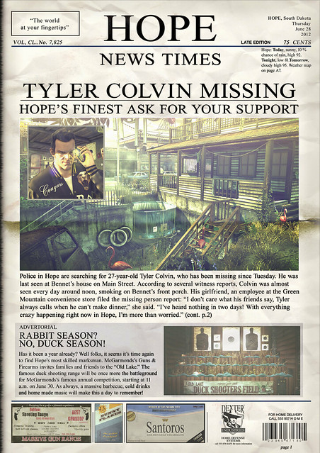 "Hitman: Absolution ""Hope News Times"" Newspaper Series - Issue #8"