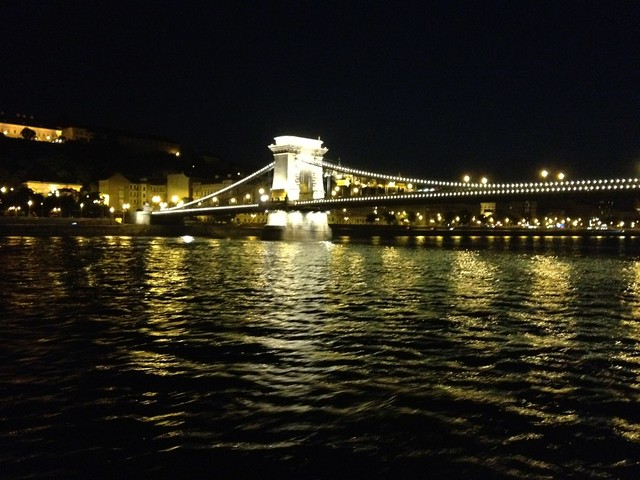 The Chain Bridge over the Danube River