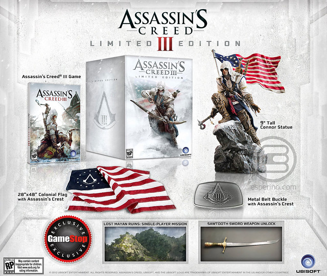 Assassin's Creed III Limited Edition for North America; GameStop Exclusive