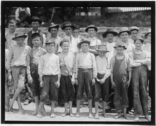 Group of young workers. Some still smaller wouldn't go in the photograph, May 1912