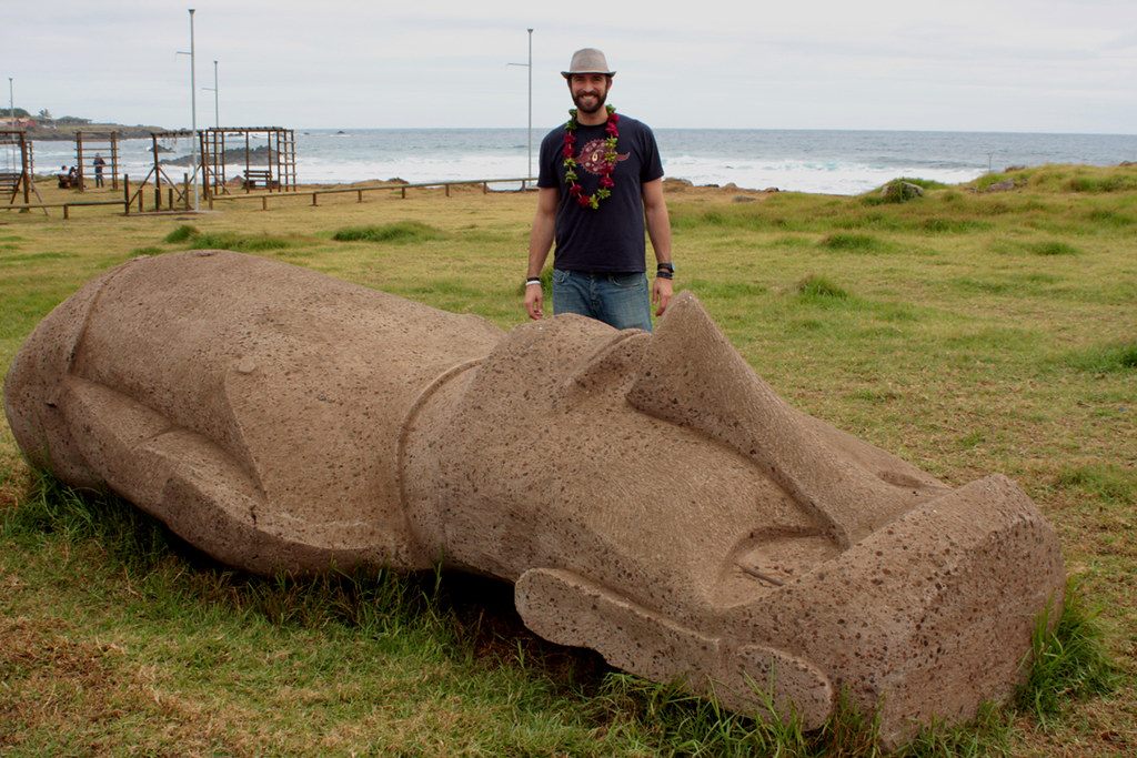 FIRST SIGHTED MOAI A NEW ONE CRAFTER BY VILLAGERS