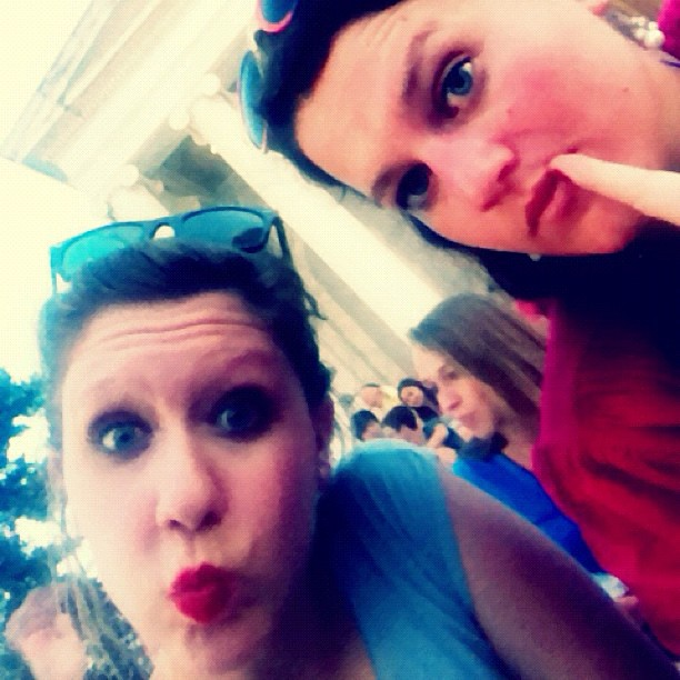 Totally normal faces during a heat wave. Waiting for fireworks to start with @rays318