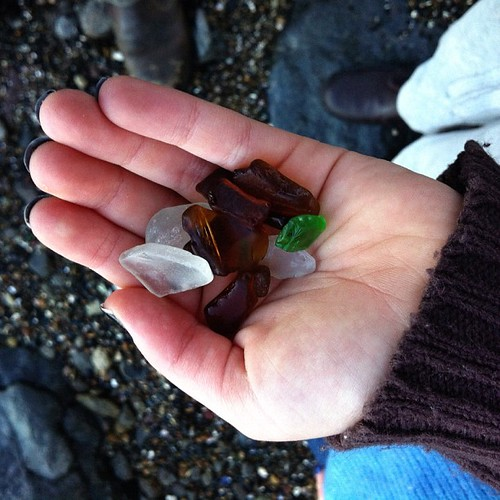 Collecting Beach Glass. #collection #glass