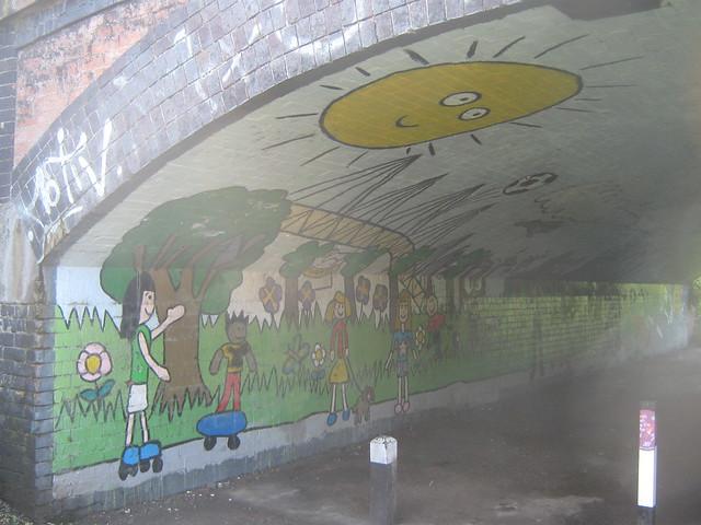 Mural former canal bridge a6 london road wilmorton de for Canal fluminense mural