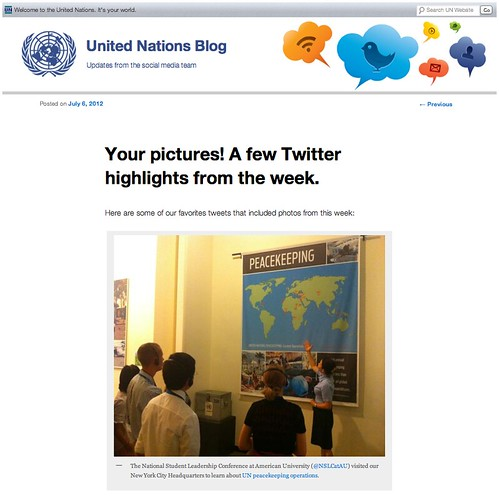 NSLC International Diplomacy Featured by United Nations