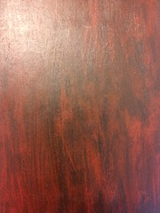 Faux-rosewood finish, varnished (first coat)