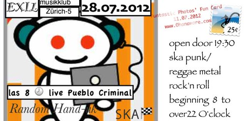 After Sunset Spezial Ska - Flyer - 28.07.2012 - PUEBLO CRIMINAL
