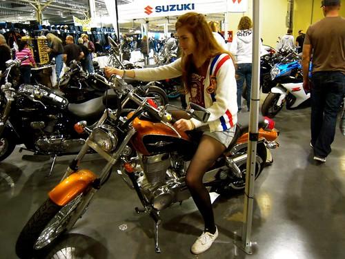 jenny on motorcycle