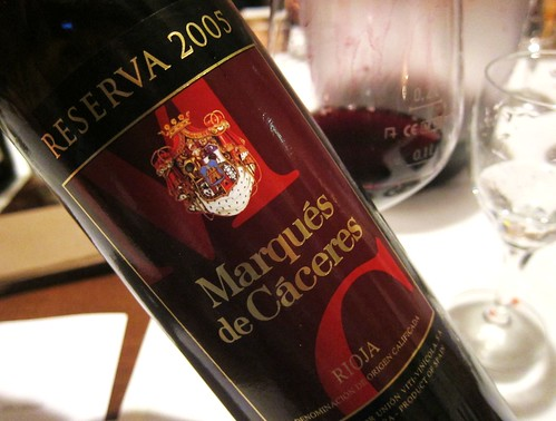 2005 Marques de Caceres Reserva from Rioja