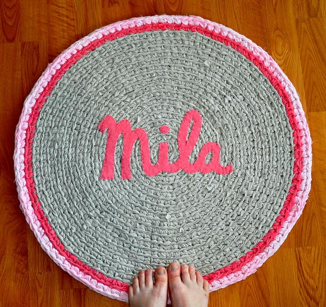 Custom Made Name Rug - Mila