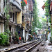 Homes on the Train Tracks, Hanoi by AdamCohn
