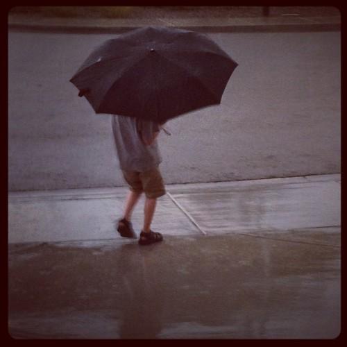 Playing on the rain