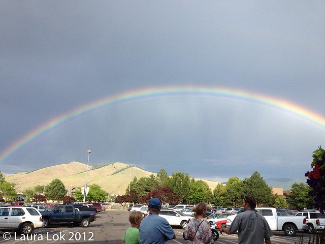 rainbow over missoula