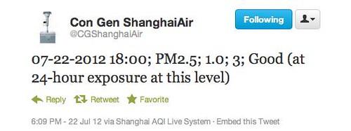 Best air quality ever in Shanghai?