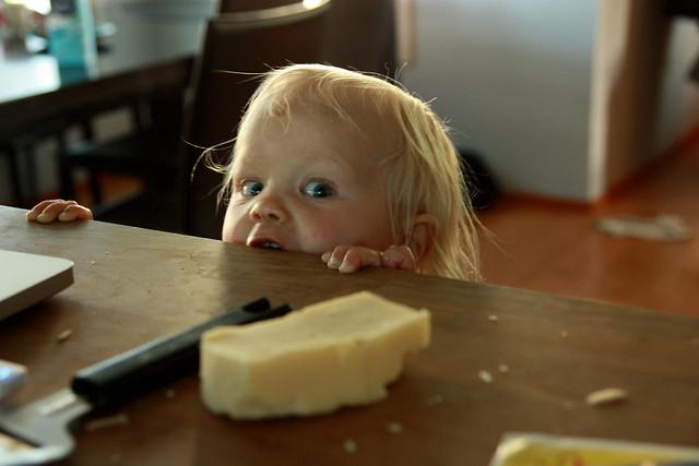 Kerttu, 15 months, loves cheese