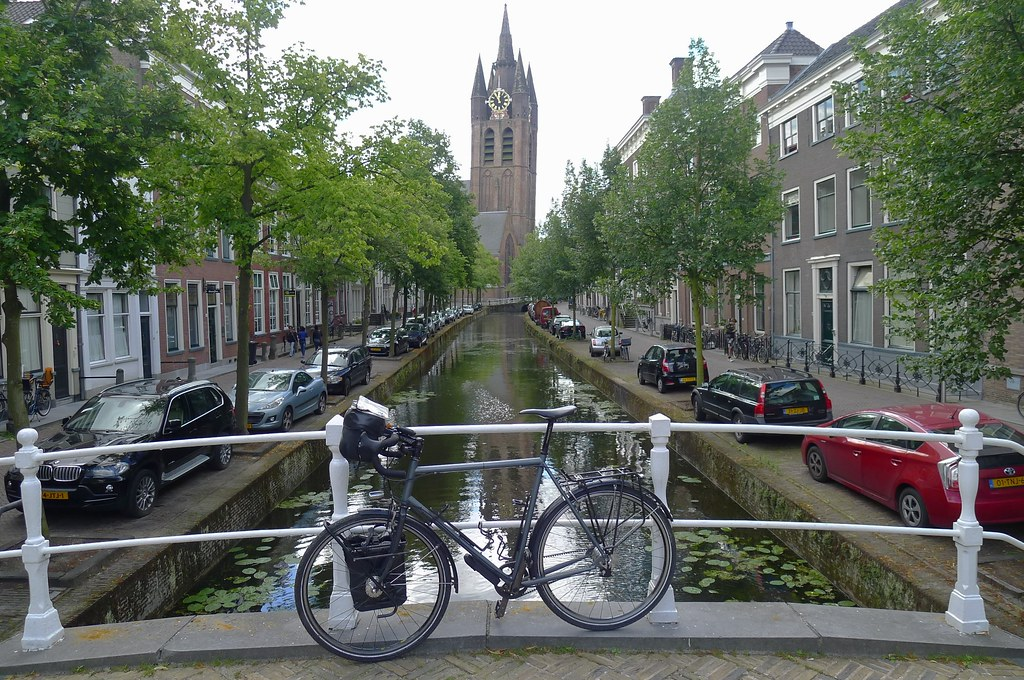 Delft Church and Canal