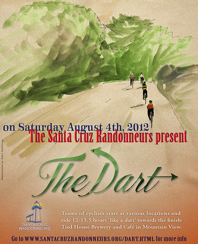 Poster I designed for the upcoming Santa Cruz dart
