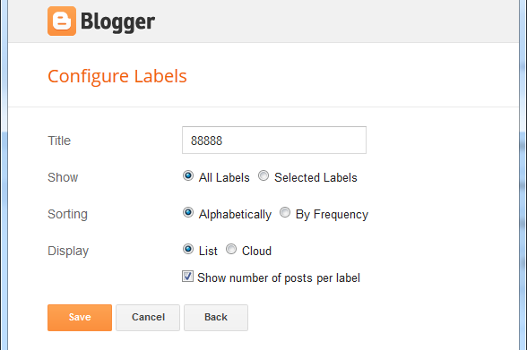 drop down category in blogger