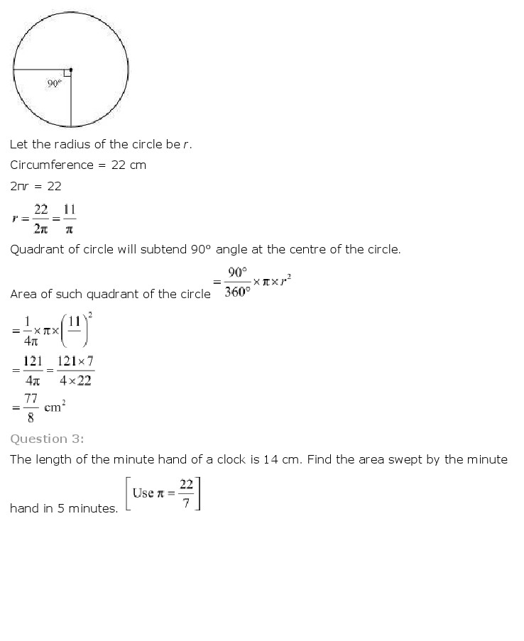 NCERT Solutions For Class 10th Maths Chapter 12 Areas related to Circles Download 2018-19 New Edition PDF FREEHOMEDELIVERY.NET