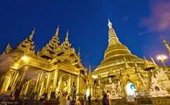 Shwedagon Pagoda during the Blue Hour