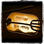 copper bitchfork with Team Uterati military dog tag