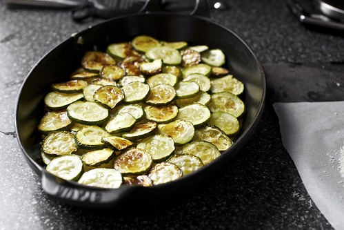 layering the zucchini