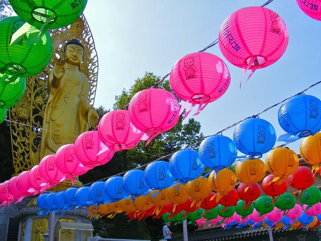Paper Lanterns for Buddha's Birthday in Suwon