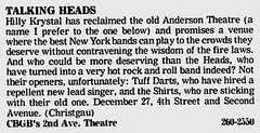 12-26-77 Village Voice (CBGB-Talking Heads)