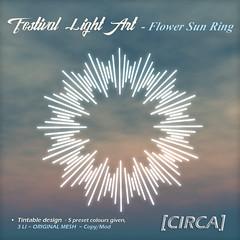 @ SaNaRae ~ Festival Light Art - Flower Sun Ring