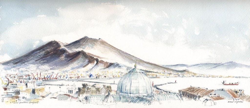 Vesuvio dai quartieri Spagnoli