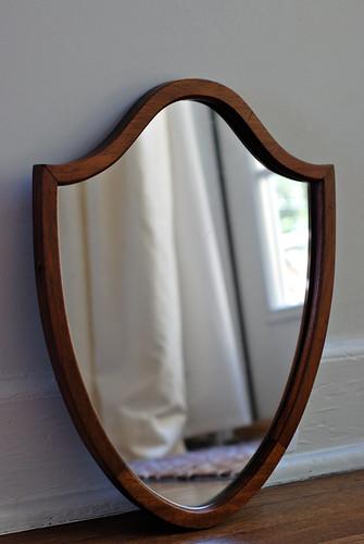 TEOT Etsy Shop: Vintage Shield Mirror