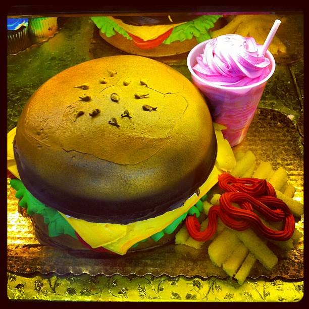 Hamburger Birthday Cake - HEB